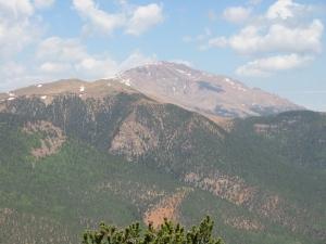 Pikes Peak from Mt. Rosa summit