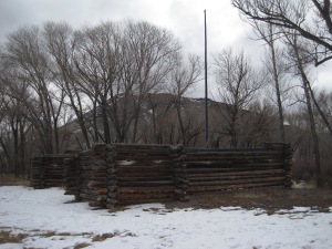 Reconstruction of Pike's Stockade on the Rio Conejos