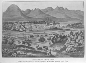 Ciudad Chihuahua, ca. 1850.  Palace of the Governors Museum Photo Archives